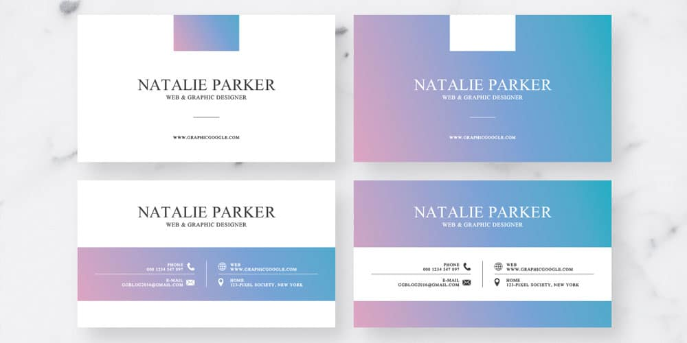 Holo Style Business Card Design Templates PSD