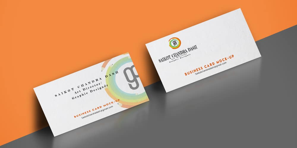 Horizontal Edge Painted Business Card