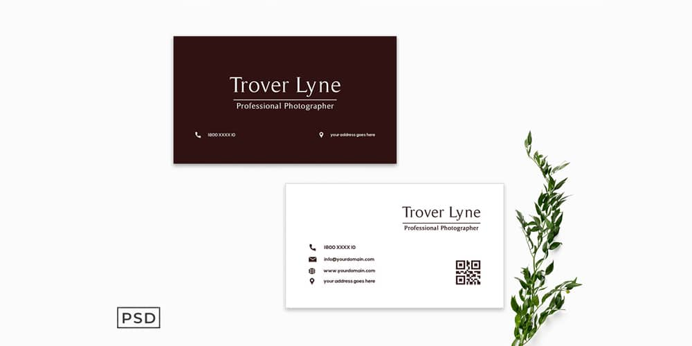Maroon Business Card Template