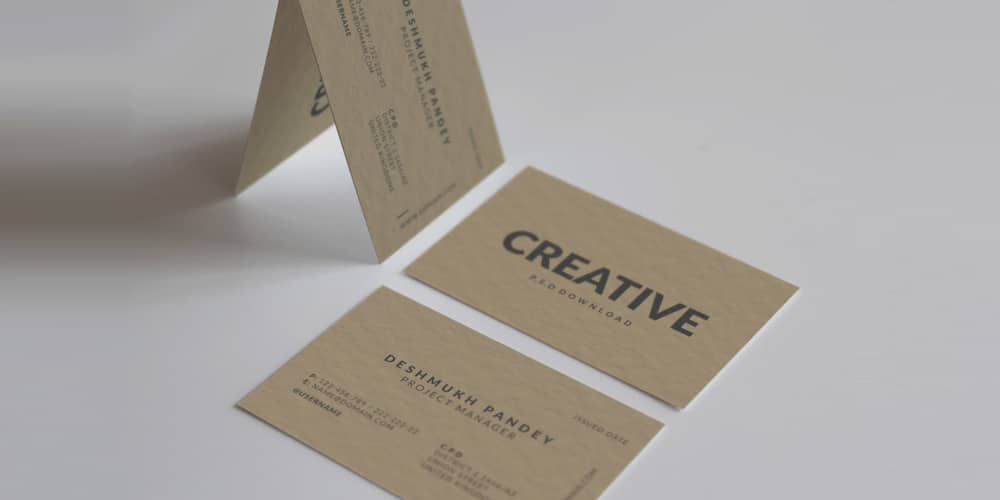 Minimal Classic Business Card PSD