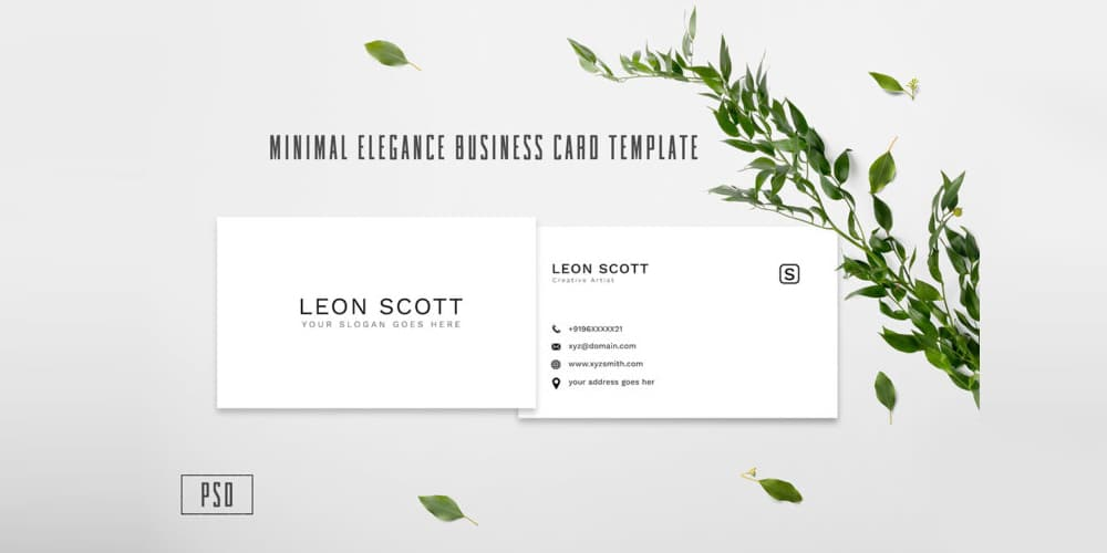 Minimal Elegance Business Card Template PSD