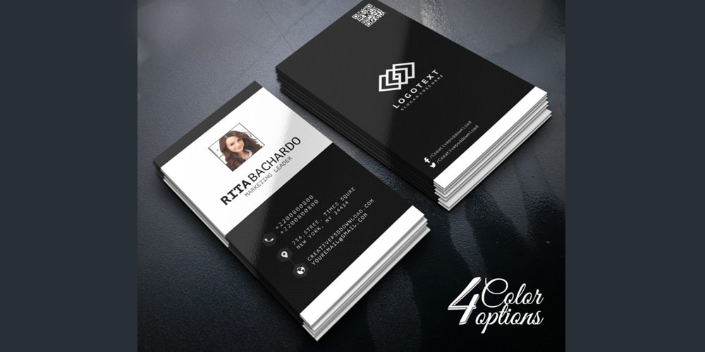 Minimalist Business Marketing Business Card PSD