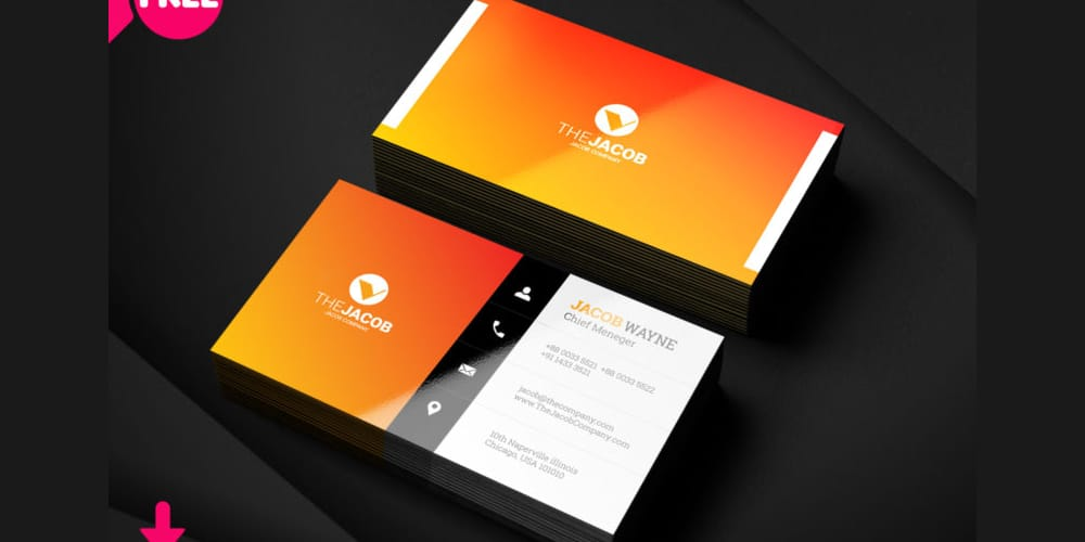 Modern Corporate Business Card PSD