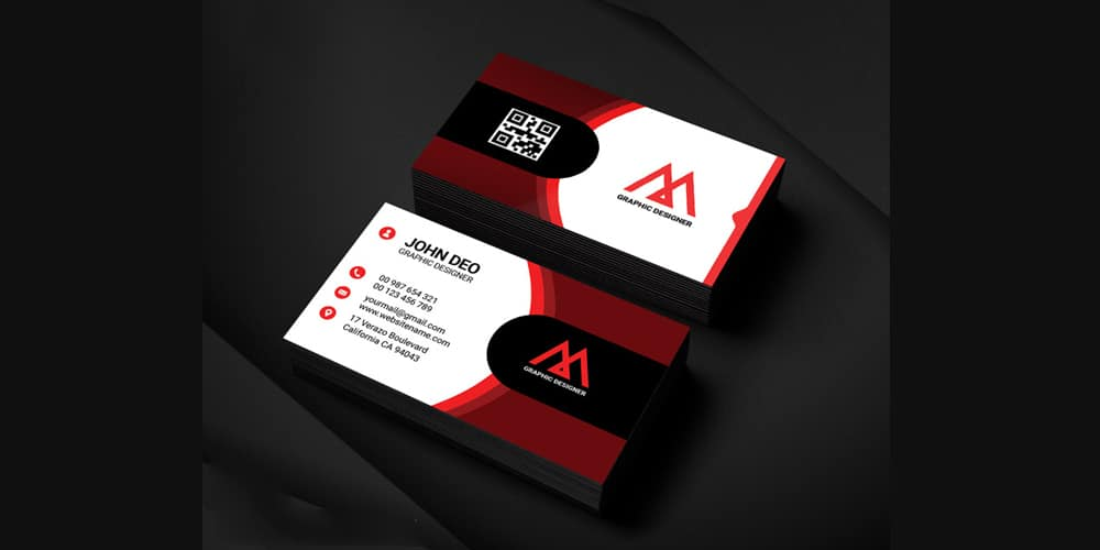 Modern Graphic Designer Business Card PSD