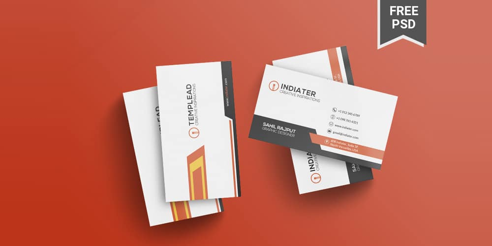 Multipurpose Company Business Card Template PSD