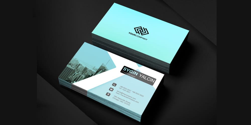 Office Business Card Template PSD