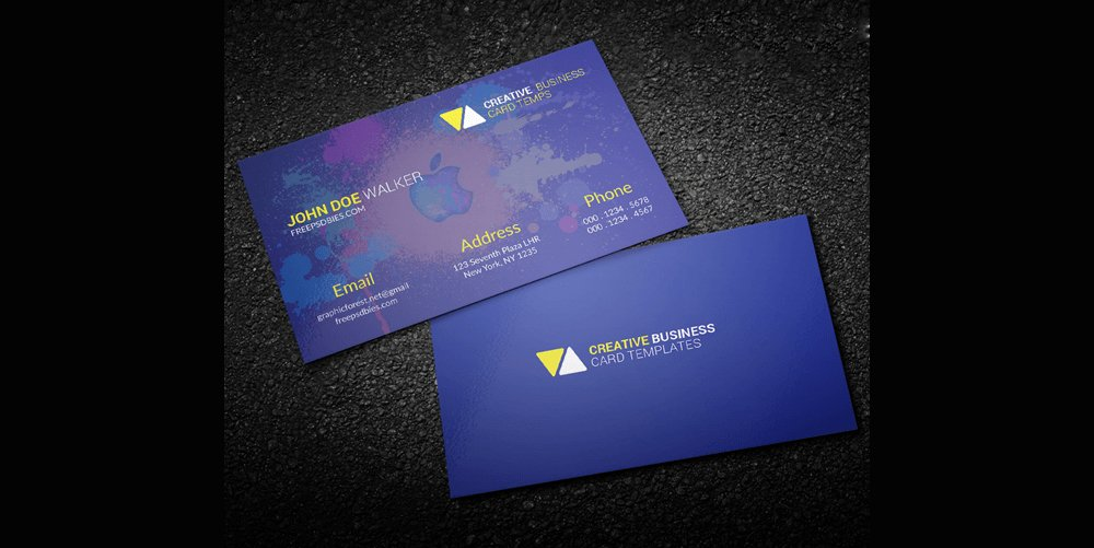 Free Business Cards PSD The Best Of Free Business Cards - Personal business cards template