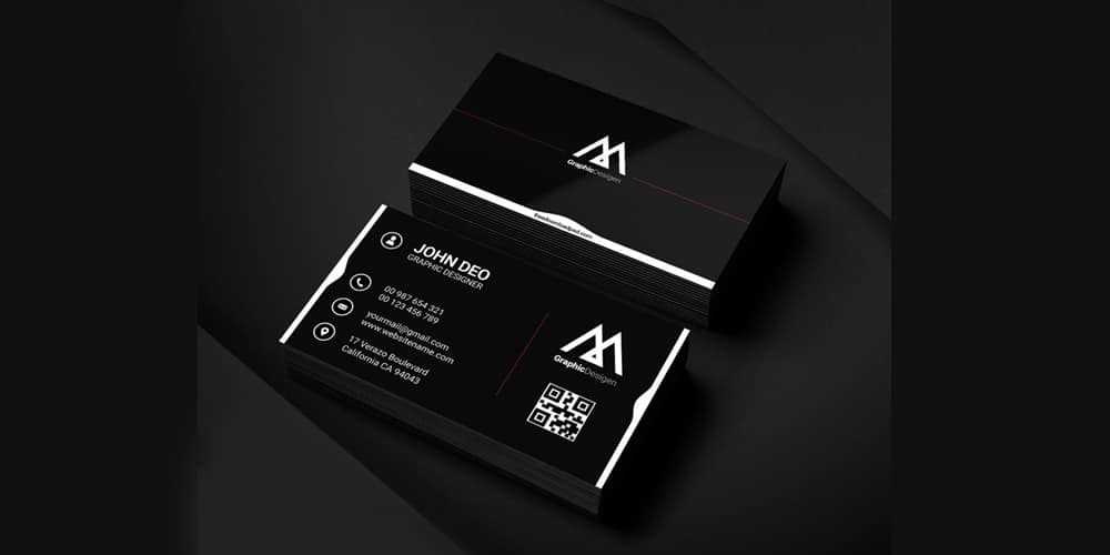 Personal Graphic Designer Business Card PSD