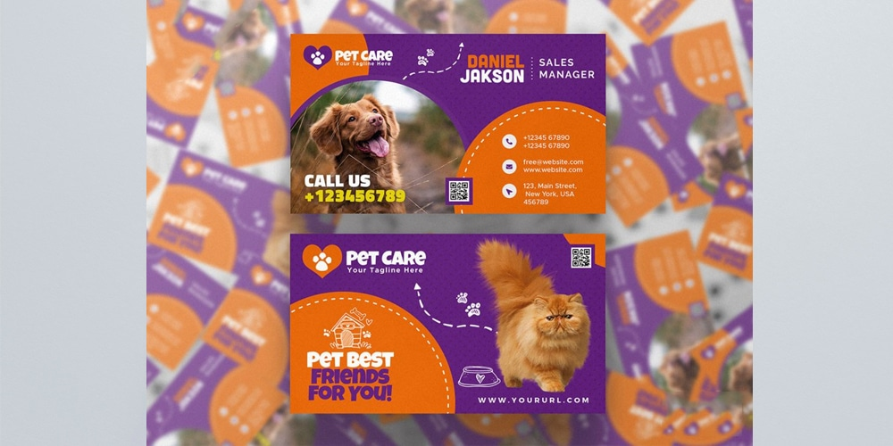 Pet Shop Business Card Template PSD