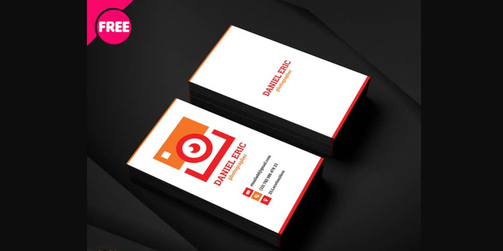 Photographer Business Card PSD