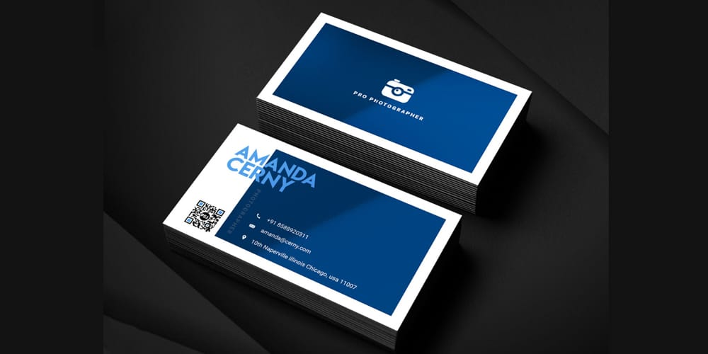Photographer Business Card TePhotographer Business Card Template PSDmplate PSD