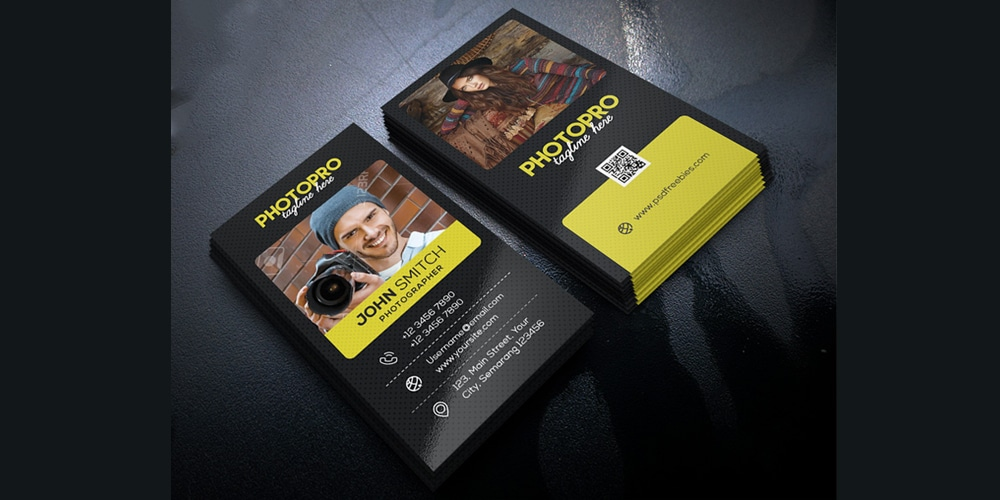 Photography Business Cards PSD