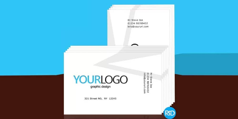 Print Business Card Template PSD