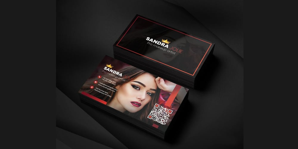 Pro Makeup Artist Business Card