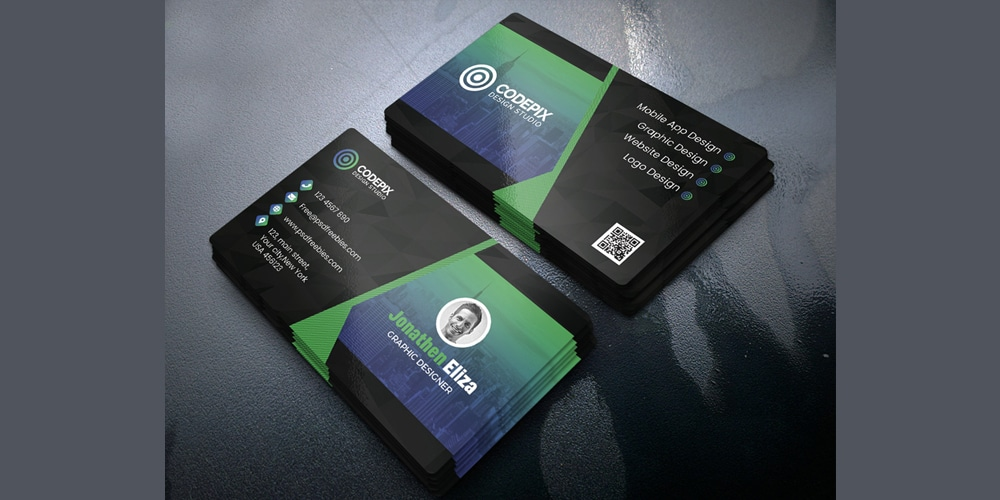Professional Business Card Design Template PSD