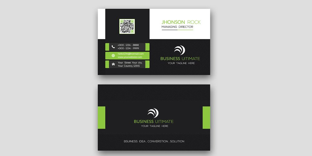 Professional Modern Business Card Template PSD