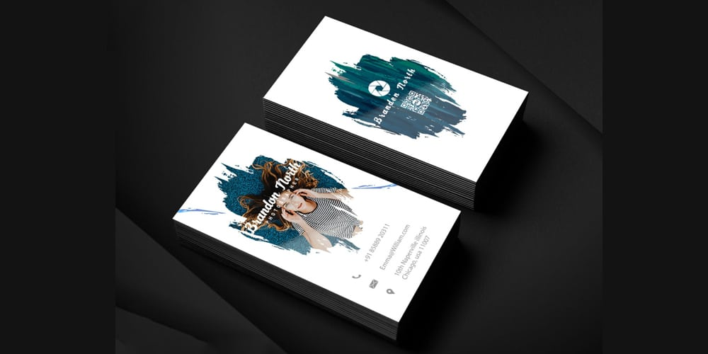Professional Photographer Business Card Template PSD