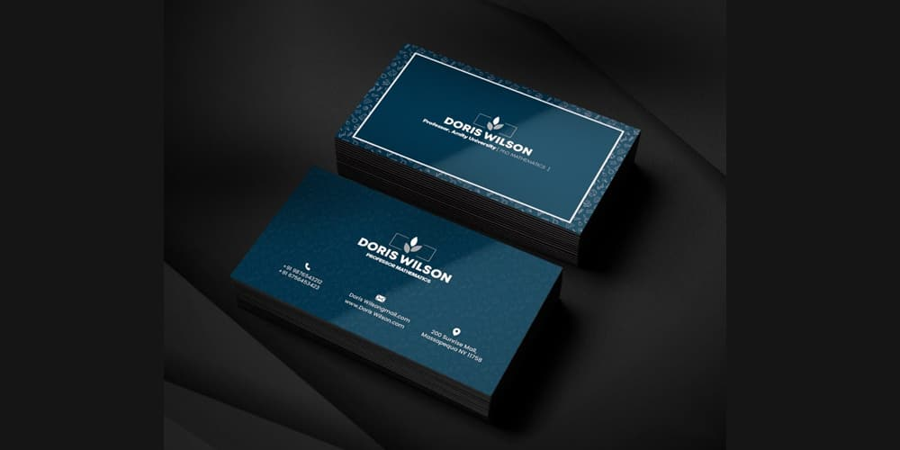Professor Business Card PSD