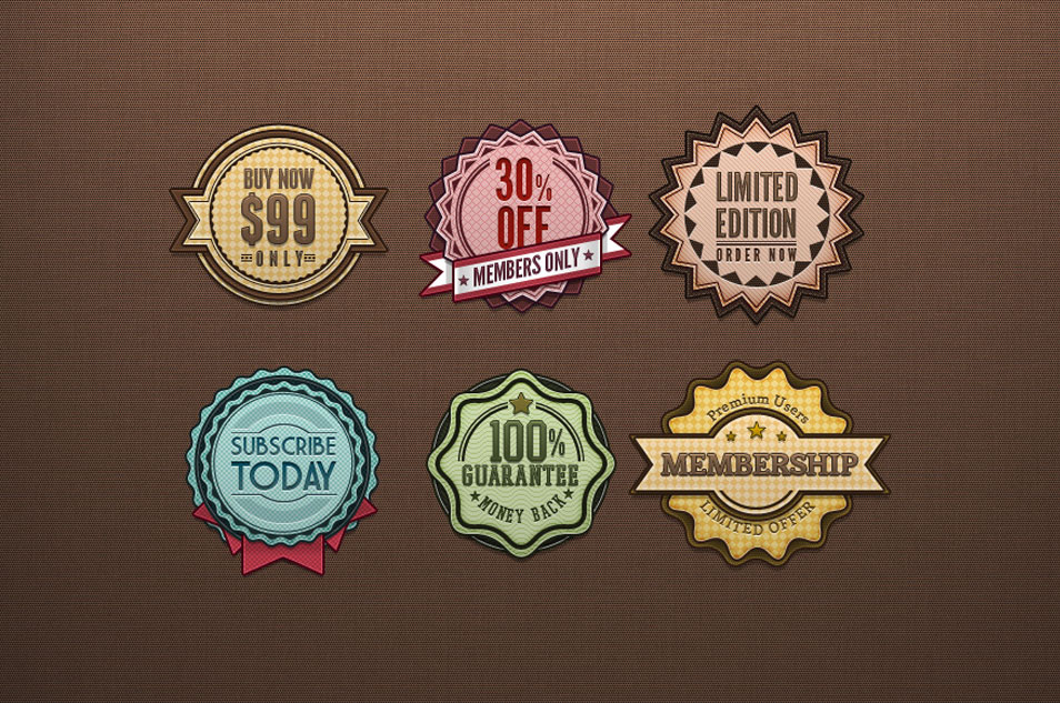 Psd Retro Badges Vintage