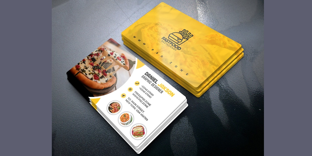 Restaurant Business Card Design Templates
