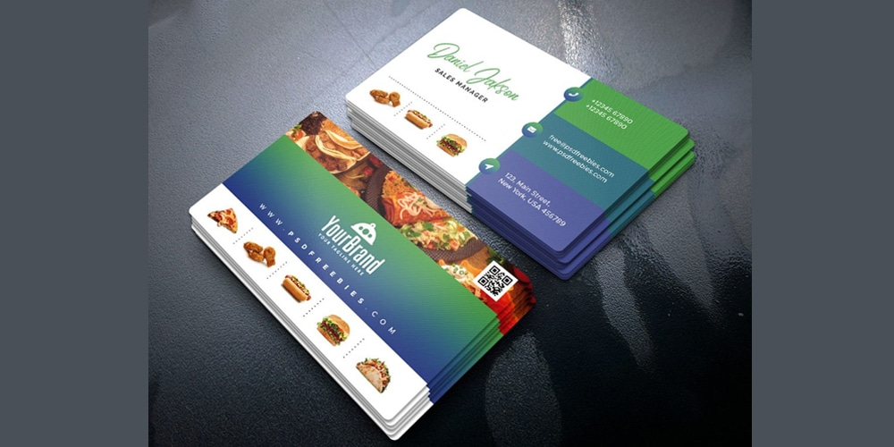 Restaurant Business Card PSD