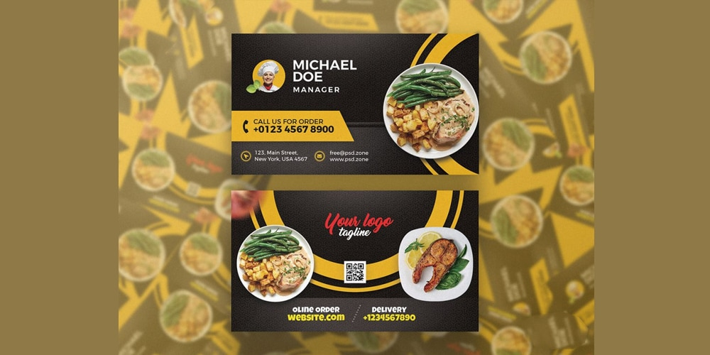Restaurant Cafe Business Card Template