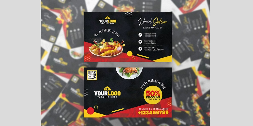 Restaurant Food Business Card PSD