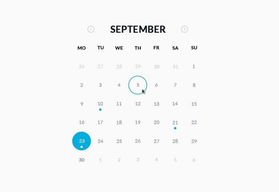Calendar Ui Design Psd : Free ui designs psd latest collection css author
