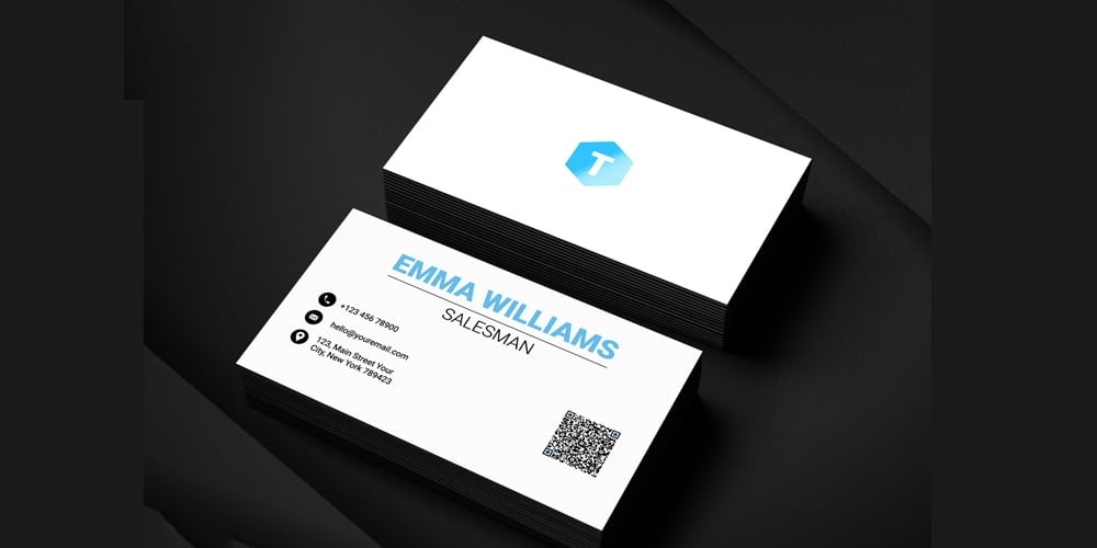 Salesman Business Card Template PSD