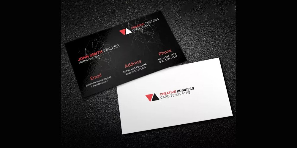 Scientific Business Card PSD