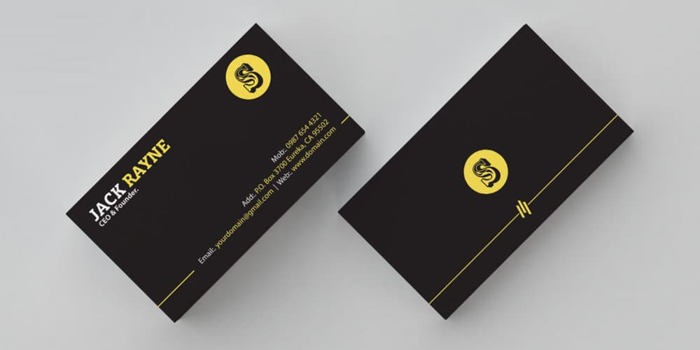 Simple & Clean Business Card Template PSD
