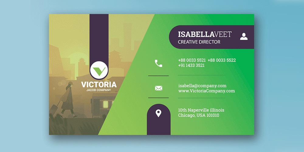 Simple Corporate Business Card Template PSD