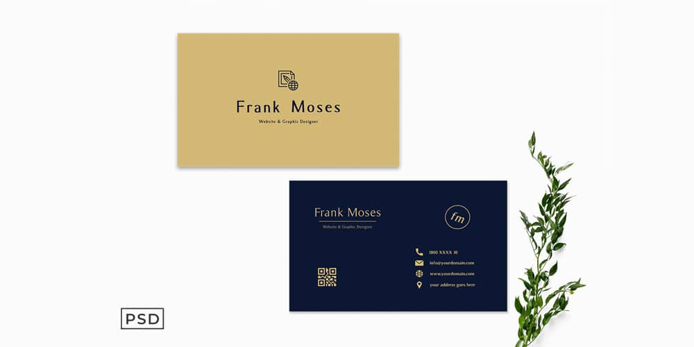 Simple Golden Business Card Template