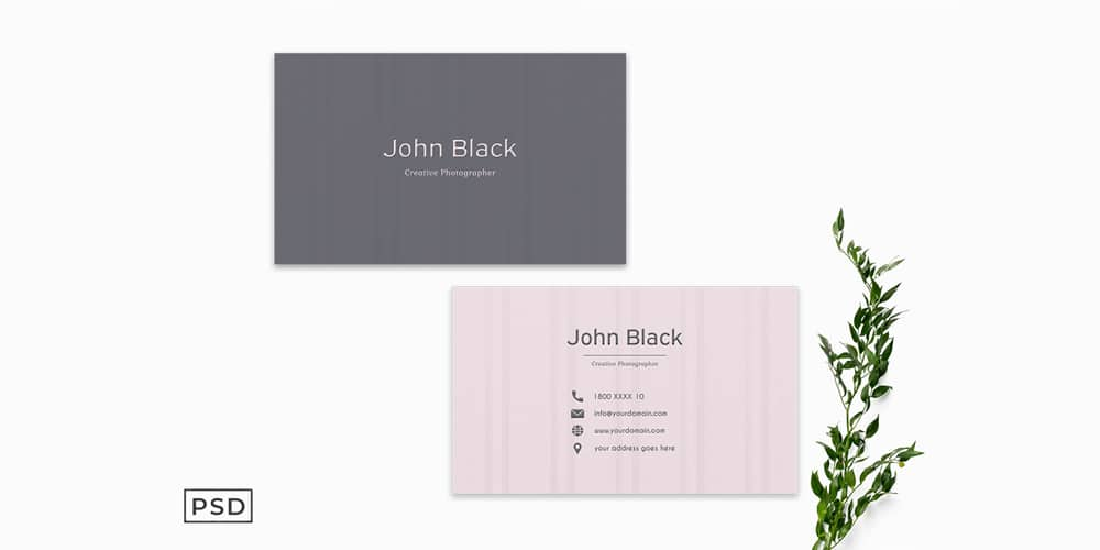 Simple Pink Business Card Template