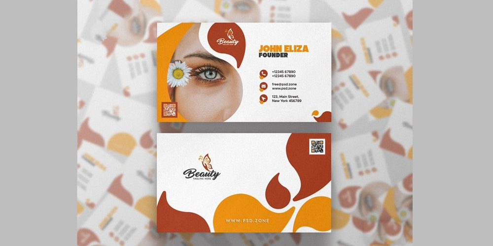 Spa and Beauty Saloon Business Card Template