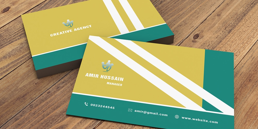 Stylish Business Card Template PSD
