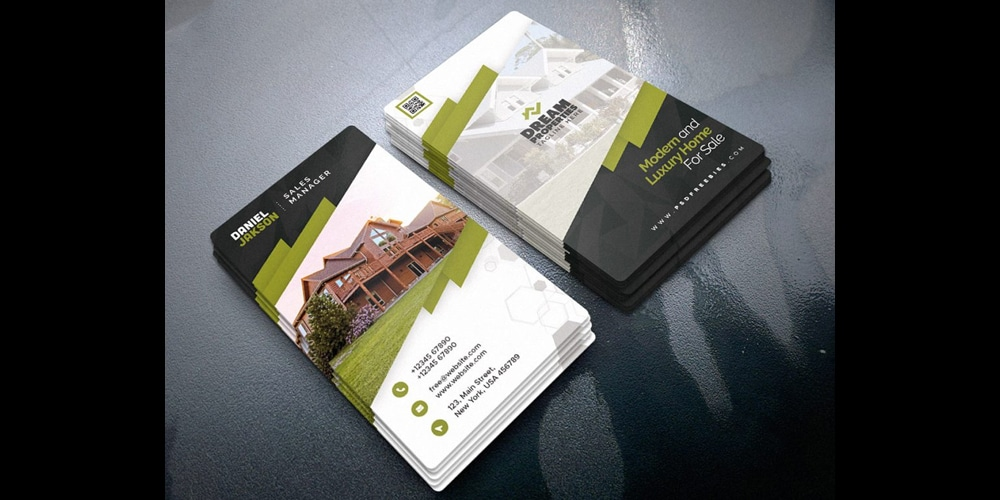 Stylish Real Estate Business Card