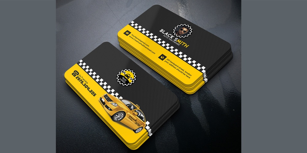 Taxi Driver and Identity Card PSD