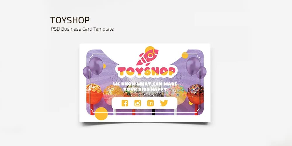 Toyshop Business Card Template PSD