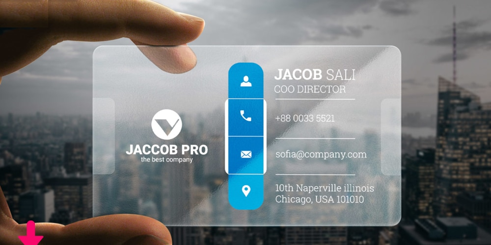 Transparent Corporate Business Card PSD