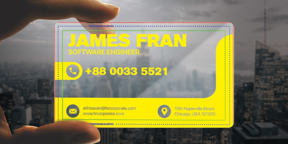 Transparent Premium Visiting Card PSD