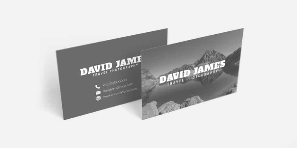 Travel Photography Business Card