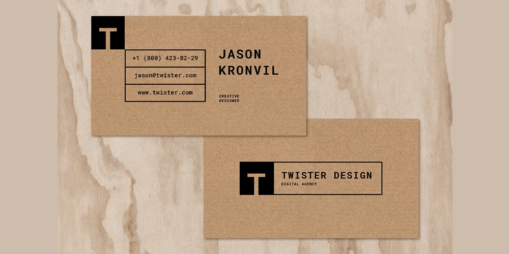 Twister Business Card Template