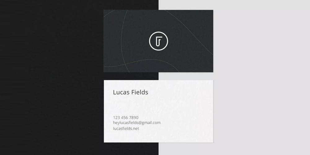 Ultra Minimalist Business Card PSD