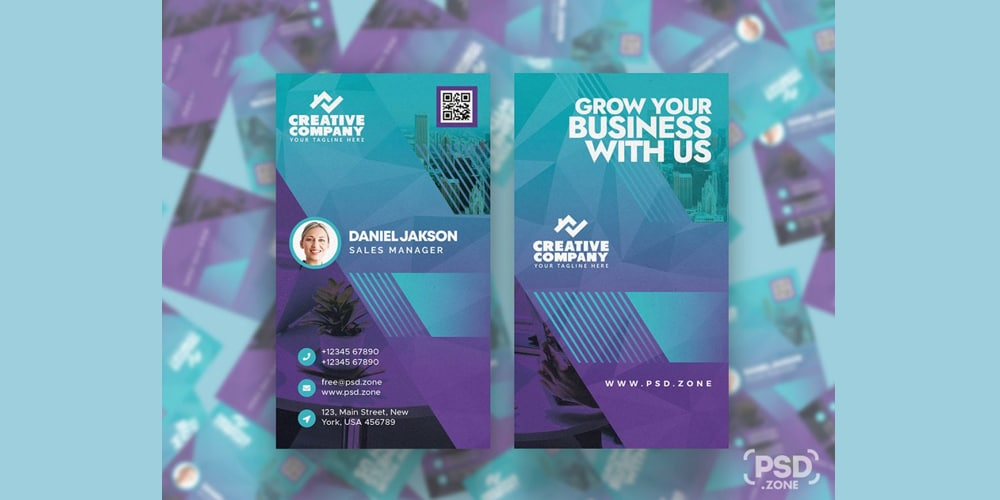 Vertical Designer Business Card PSD