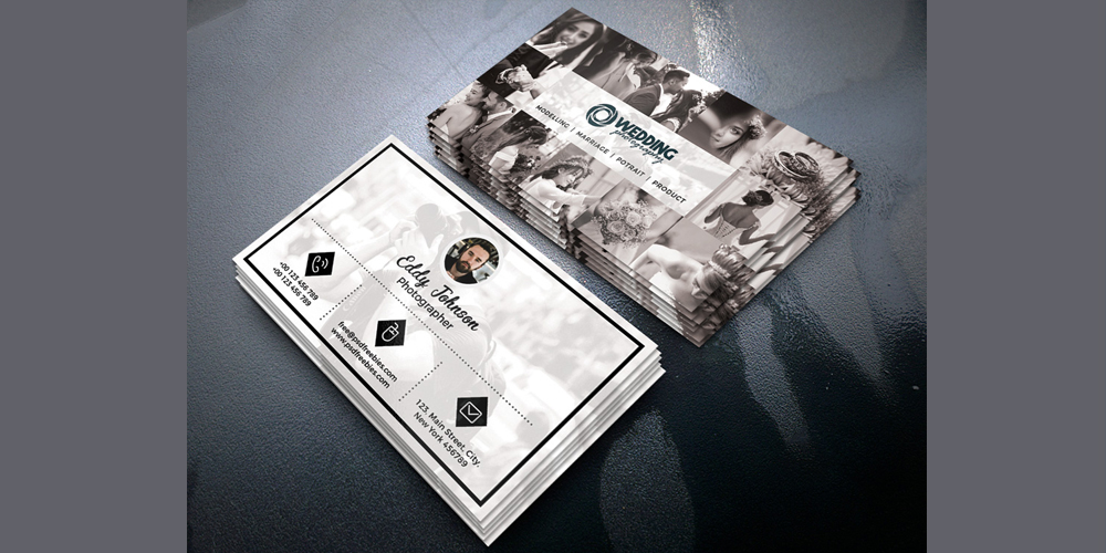 Wedding Photographer Business Card Design PSD