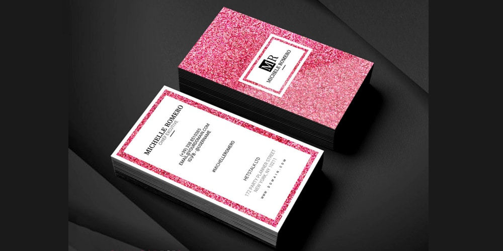 Wedding Planner Business Card Template PSD
