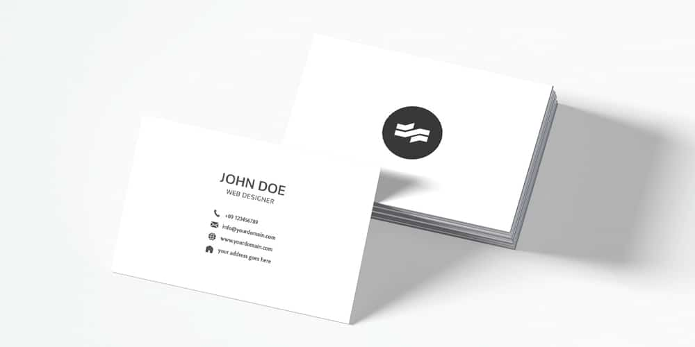 White Sober Business Card Template