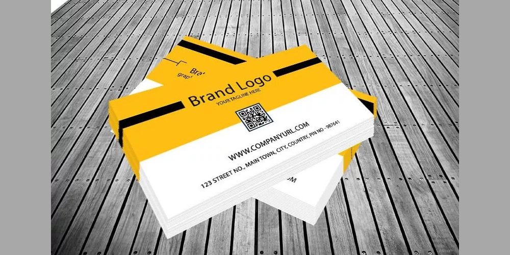 Yellow Business Card PSD
