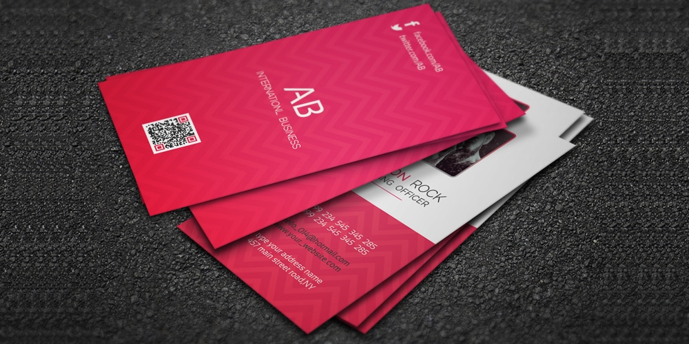 corporate stylish business card psd